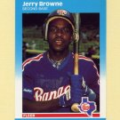 1987 Fleer Update Baseball #012 Jerry Browne - Texas Rangers