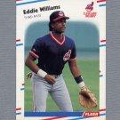 1988 Fleer Baseball #620 Eddie Williams RC - Cleveland Indians