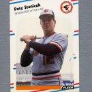 1988 Fleer Baseball #573 Pete Stanicek - Baltimore Orioles