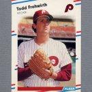 1988 Fleer Baseball #301 Todd Frohwirth - Philadelphia Phillies