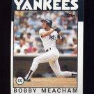 1986 Topps Baseball #379 Bobby Meacham - New York Yankees