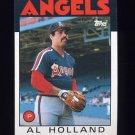 1986 Topps Baseball #369 Al Holland - California Angels