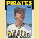 1986 Topps Baseball #351 Chuck Tanner MG / Pittsburgh Pirates Team Checklist