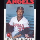 1986 Topps Baseball #345 Donnie Moore - California Angels