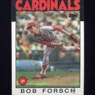 1986 Topps Baseball #322 Bob Forsch - St. Louis Cardinals