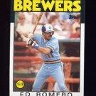 1986 Topps Baseball #317 Ed Romero - Milwaukee Brewers