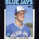 1986 Topps Baseball #312 Tom Filer - Toronto Blue Jays