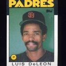 1986 Topps Baseball #286 Luis DeLeon - San Diego Padres
