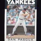 1986 Topps Baseball #259 Dan Pasqua - New York Yankees