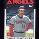 1986 Topps Baseball #257 Doug DeCinces - California Angels