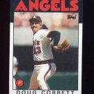 1986 Topps Baseball #234 Doug Corbett - California Angels