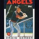 1986 Topps Baseball #222 Craig Gerber - California Angels