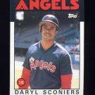 1986 Topps Baseball #193 Daryl Sconiers - California Angels
