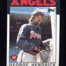 1986 Topps Baseball #190 George Hendrick - California Angels