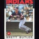 1986 Topps Baseball #149 Brett Butler - Cleveland Indians