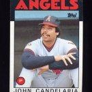 1986 Topps Baseball #140 John Candelaria - California Angels
