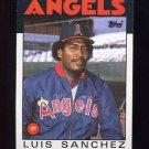 1986 Topps Baseball #124 Luis Sanchez - California Angels