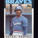 1986 Topps Baseball #107 Rafael Ramirez - Atlanta Braves