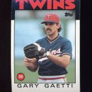 1986 Topps Baseball #097 Gary Gaetti - Minnesota Twins