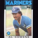 1986 Topps Baseball #092 Al Cowens - Seattle Mariners