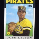 1986 Topps Baseball #075 Jose DeLeon - Pittsburgh Pirates