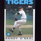 1986 Topps Baseball #073 Randy O'Neal - Detroit Tigers