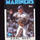 1986 Topps Baseball #061 Karl Best - Seattle Mariners