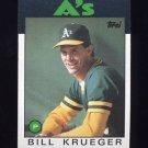 1986 Topps Baseball #058 Bill Krueger - Oakland A's