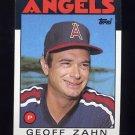 1986 Topps Baseball #042 Geoff Zahn - California Angels