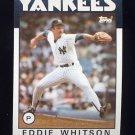 1986 Topps Baseball #015 Eddie Whitson - New York Yankees