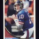 1994 Topps Football #589 Kent Graham - New York Giants