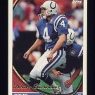 1994 Topps Football #367 Dean Biasucci - Indianapolis Colts