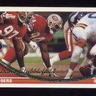 1994 Topps Football #149 Dana Stubblefield - San Francisco 49ers