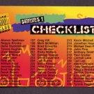 1994 Stadium Club Football #NNO Checklist Card 3