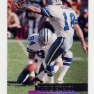 1995 Stadium Club Football #003 Chris Boniol RC - Dallas Cowboys