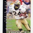 1995 Skybox Impact Football #168 Mario Bates SS - New Orleans Saints