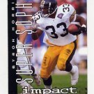 1995 Skybox Impact Football #167 Byron Bam Morris SS - Pittsburgh Steelers