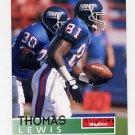 1995 Skybox Impact Football #102 Thomas Lewis - New York Giants