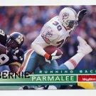 1995 Skybox Impact Football #086 Bernie Parmalee - Miami Dolphins