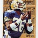 1996 Skybox Impact Football #166 Dietrich Jells RC - Kansas City Chiefs
