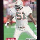 1996 Skybox Impact Football #072 Bryan Cox - Miami Dolphins