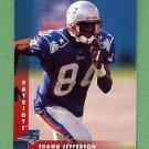 1997 Donruss Football #157 Shawn Jefferson - New England Patriots