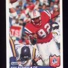 1992 Fleer Football #254 Ray Agnew - New England Patriots