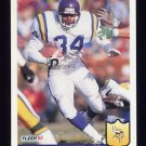 1992 Fleer Football #253 Herschel Walker - Minnesota Vikings