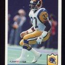 1992 Fleer Football #220 Pat Terrell - Los Angeles Rams