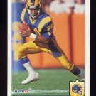 1992 Fleer Football #214 Darryl Henley - Los Angeles Rams