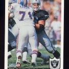 1992 Fleer Football #206 Steve Wisniewski - Los Angeles Raiders