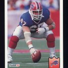 1992 Fleer Football #022 Kent Hull - Buffalo Bills
