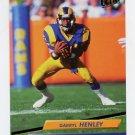 1992 Ultra Football #208 Darryl Henley - Los Angeles Rams