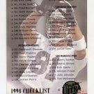 1994 Ultra Football #324 Checklist